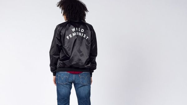 "$88, Wildfang. <a href=""http://www.wildfang.com/wild-feministtm-bomber.html"" target=""_blank"">Buy it here</a>."