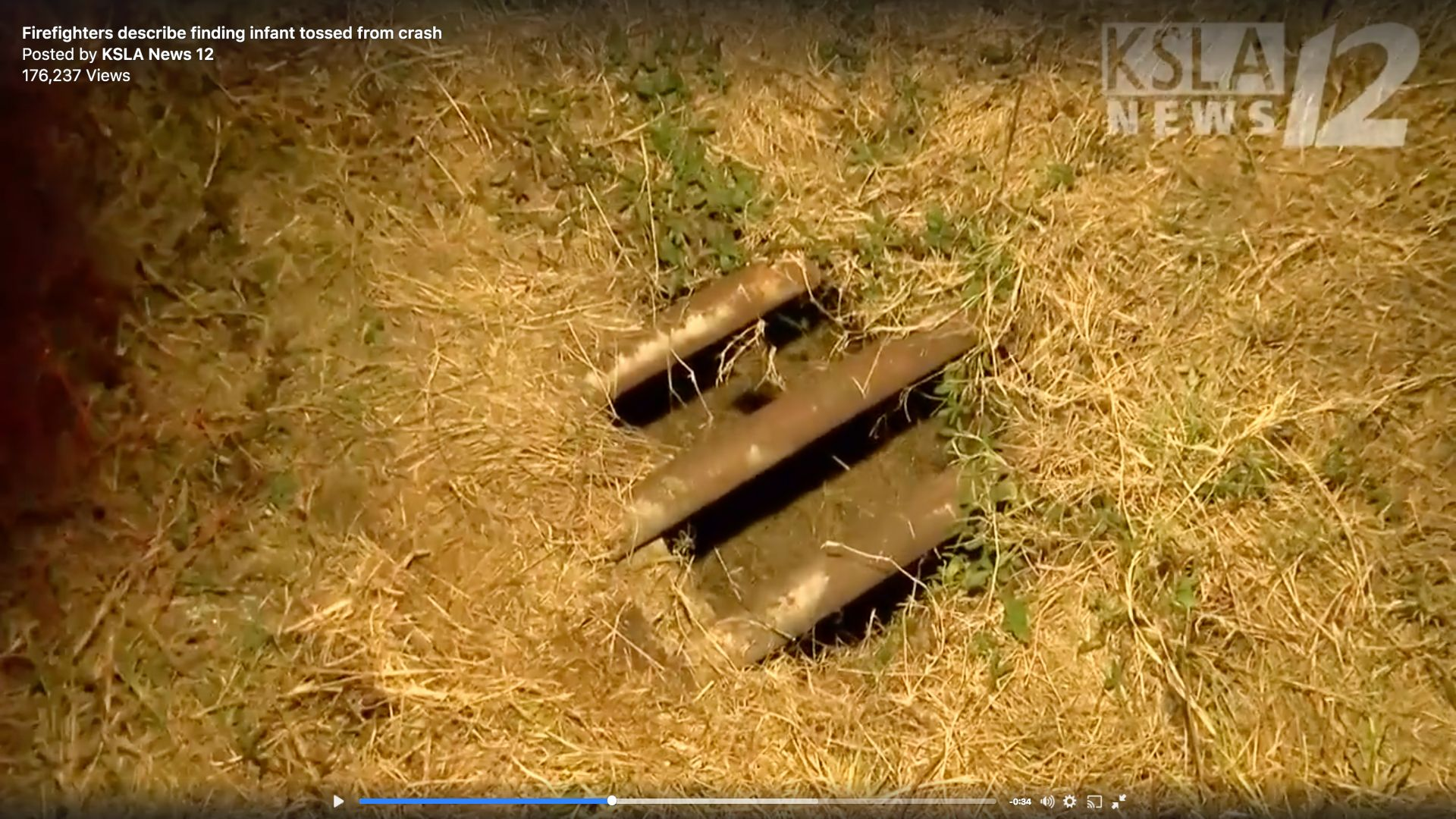 An 8monthold girl was found inside this storm drain after being ejected from a car