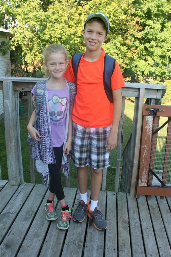 """""""Ayla and my son Owen. Owen is adopted. But they are still real siblings."""""""