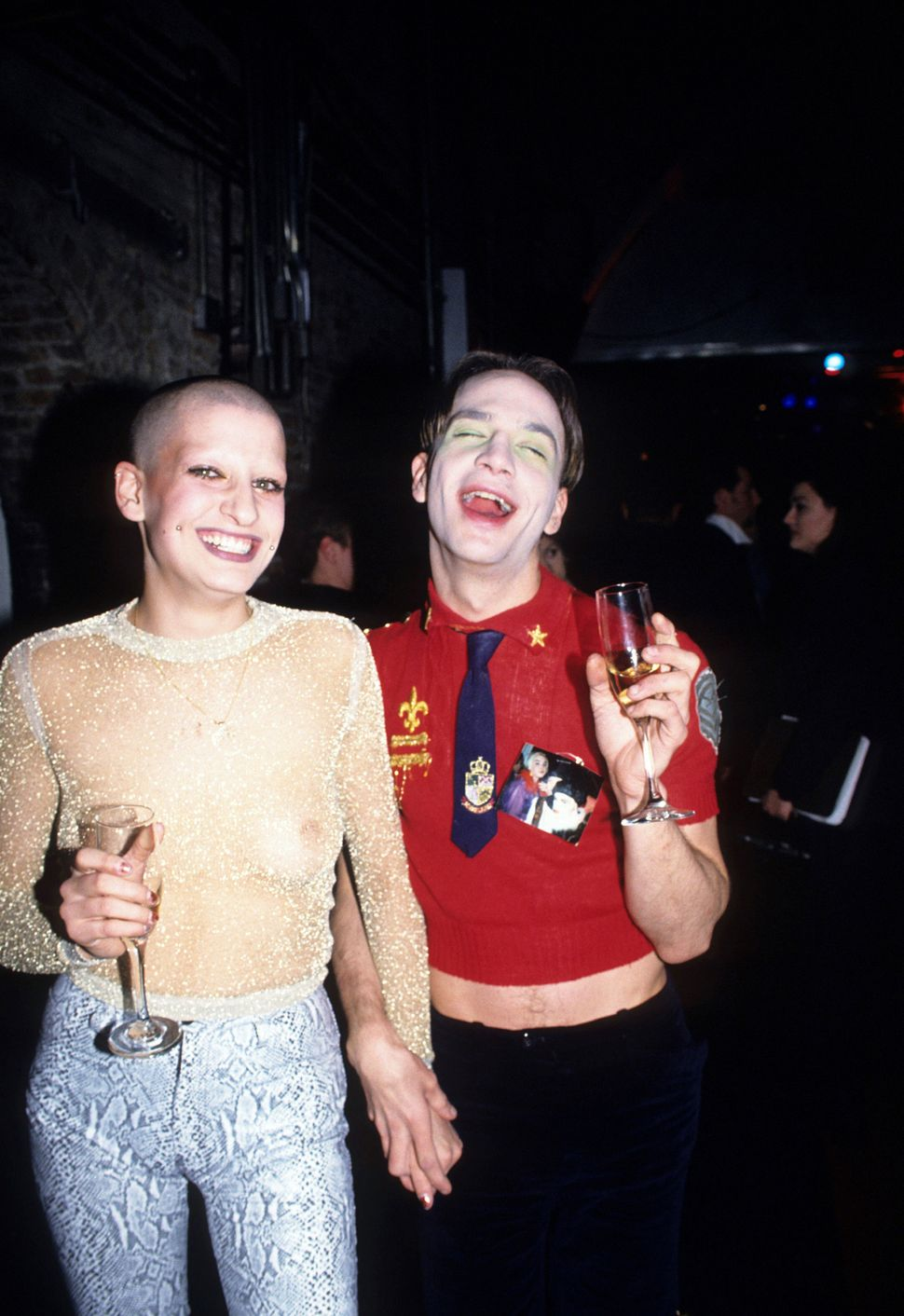 Jenny Talia and Michael Alig at Tunnel Academy Awards of Fashion, New York, April 7, 1995.