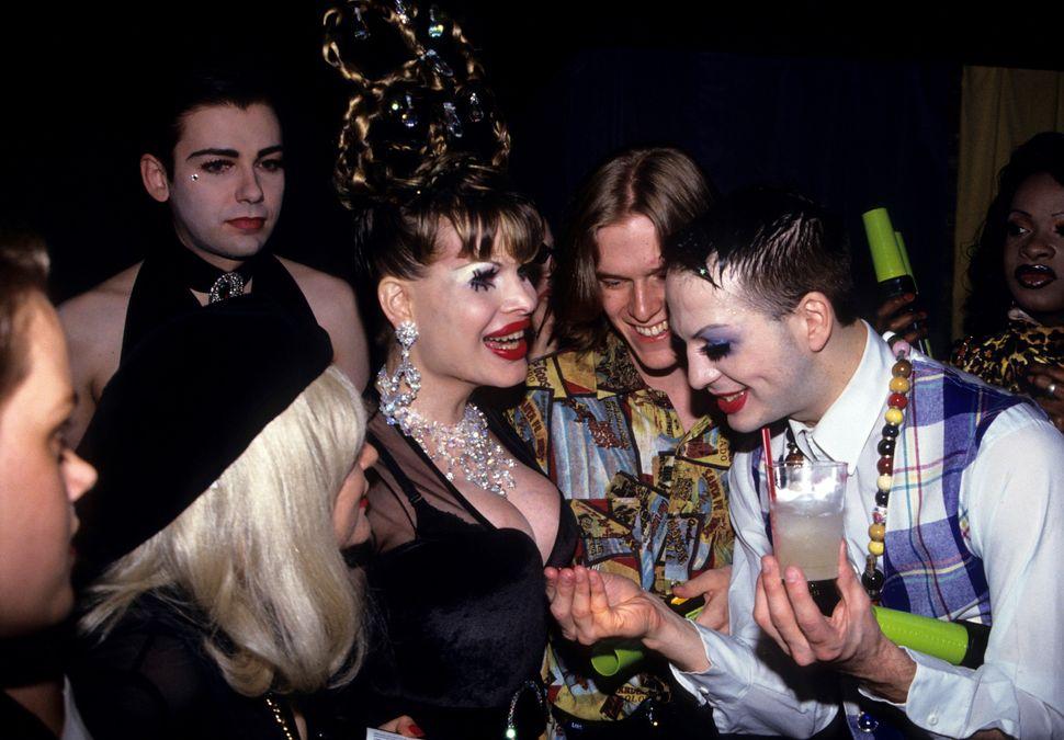 Amanda Lepore and Michael Alig at Club USA, New York, May 1, 1993.