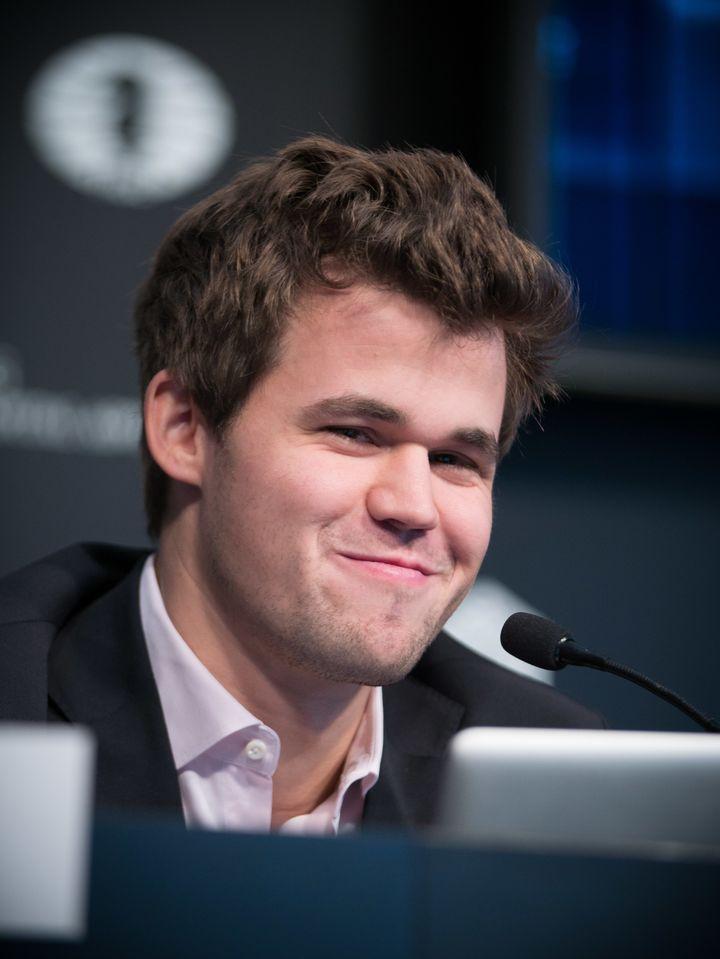 Magnus Carlsen was in a mischievous mood today