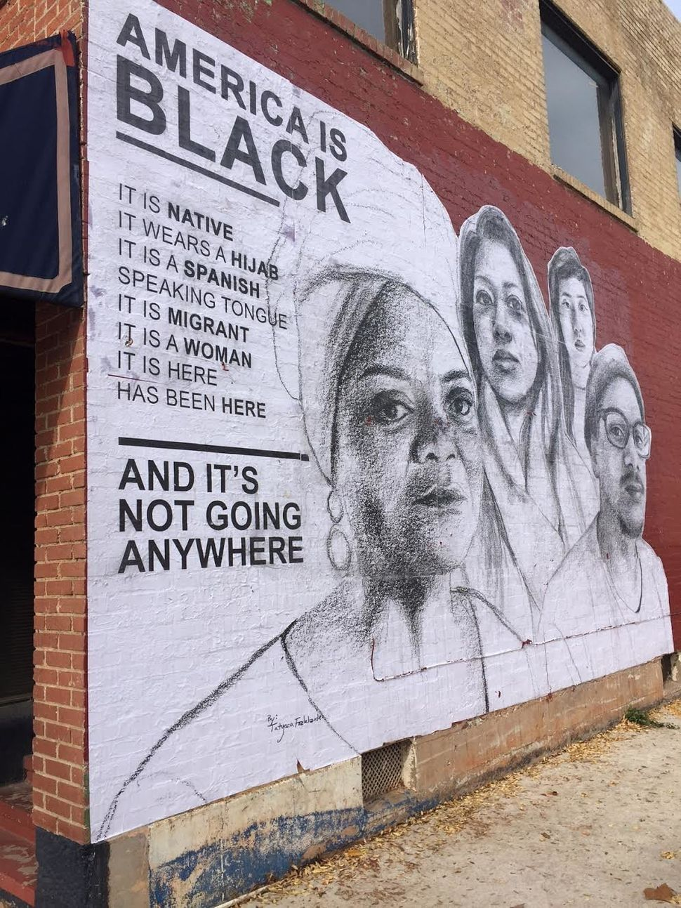 street artist delivers powerful message to white america huffpost
