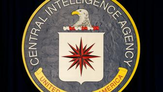 The CIA sign is seen onstage before the arrival of U.S. President Barack Obama to speak following a meeting with his National Security Council at CIA Headquarters in Langley, Virginia April 13, 2016. REUTERS/Kevin Lamarque