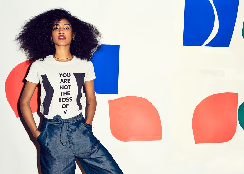 """$35, Prinkshop. <a href=""""https://prinkshop.com/collections/all/products/you-are-not-the-boss-of-v-affirmation-tee"""" target=""""_b"""