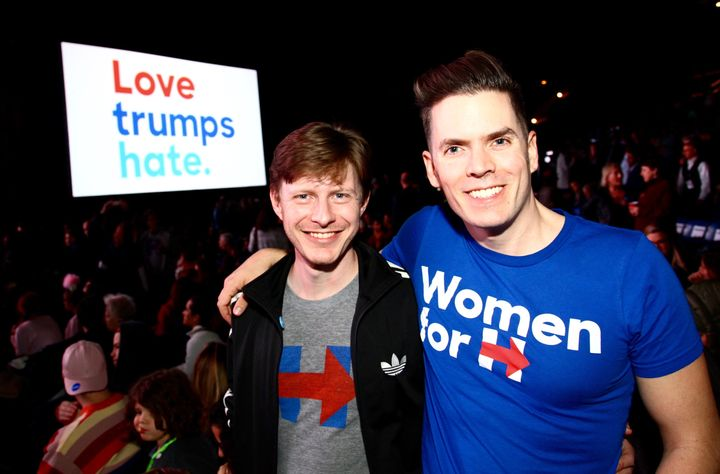 At the Love Trumps Hate Katy Perry concert, Philadelphia, November 5.