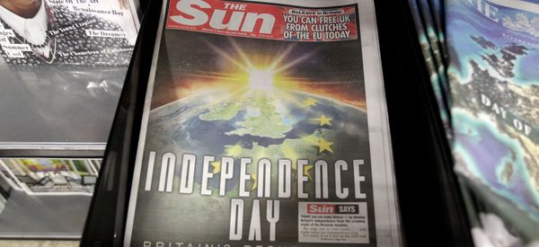 The Sun Was One Of The Biggest Spenders Among Pro-Brexit Campaigners