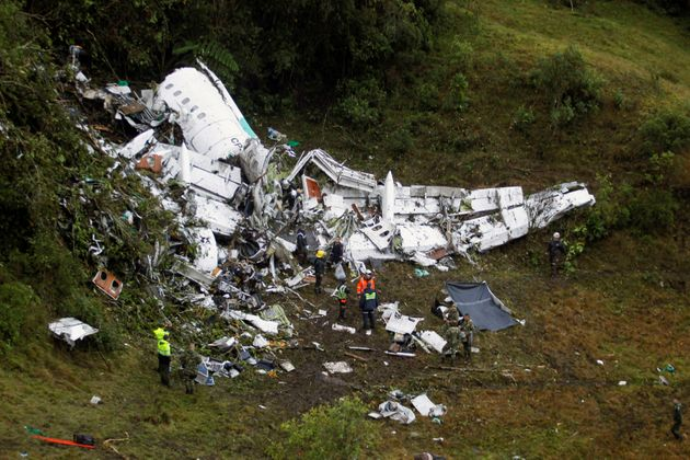 Wreckage from the plane that crashed into Colombian jungle killed 76