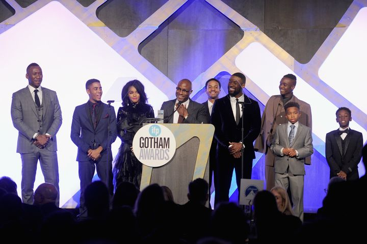 "Barry Jenkins and the cast of ""Moonlight"" win Best Feature at the Gotham Awards."