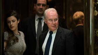 NEW YORK, NY - NOVEMBER 16: Rep. Tom Price gets into an elevator at Trump Tower, November 16, 2016 in New York City. President-elect Donald Trump and his transition team are in the process of filling cabinet positions for the new administration. (Photo by Drew Angerer/Getty Images)