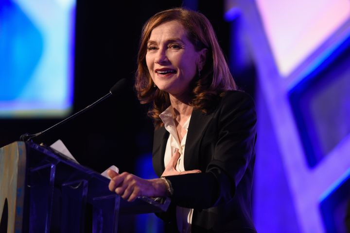 "Isabelle Huppert wins Best Actress for her performance in ""Elle."""