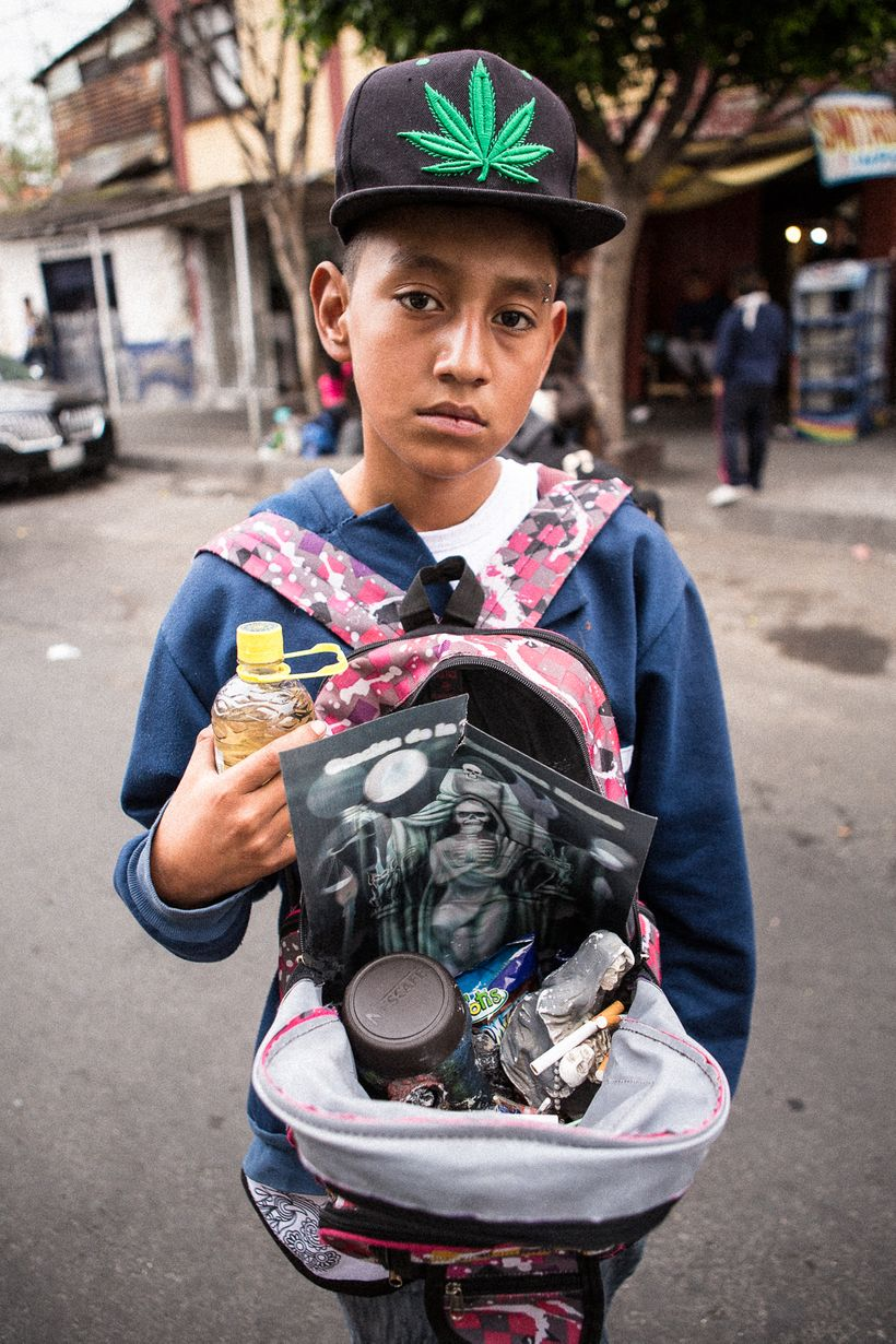 Portable Death - Many Santa Muerte devotees bring their images to the Tepito shrine in backpacks