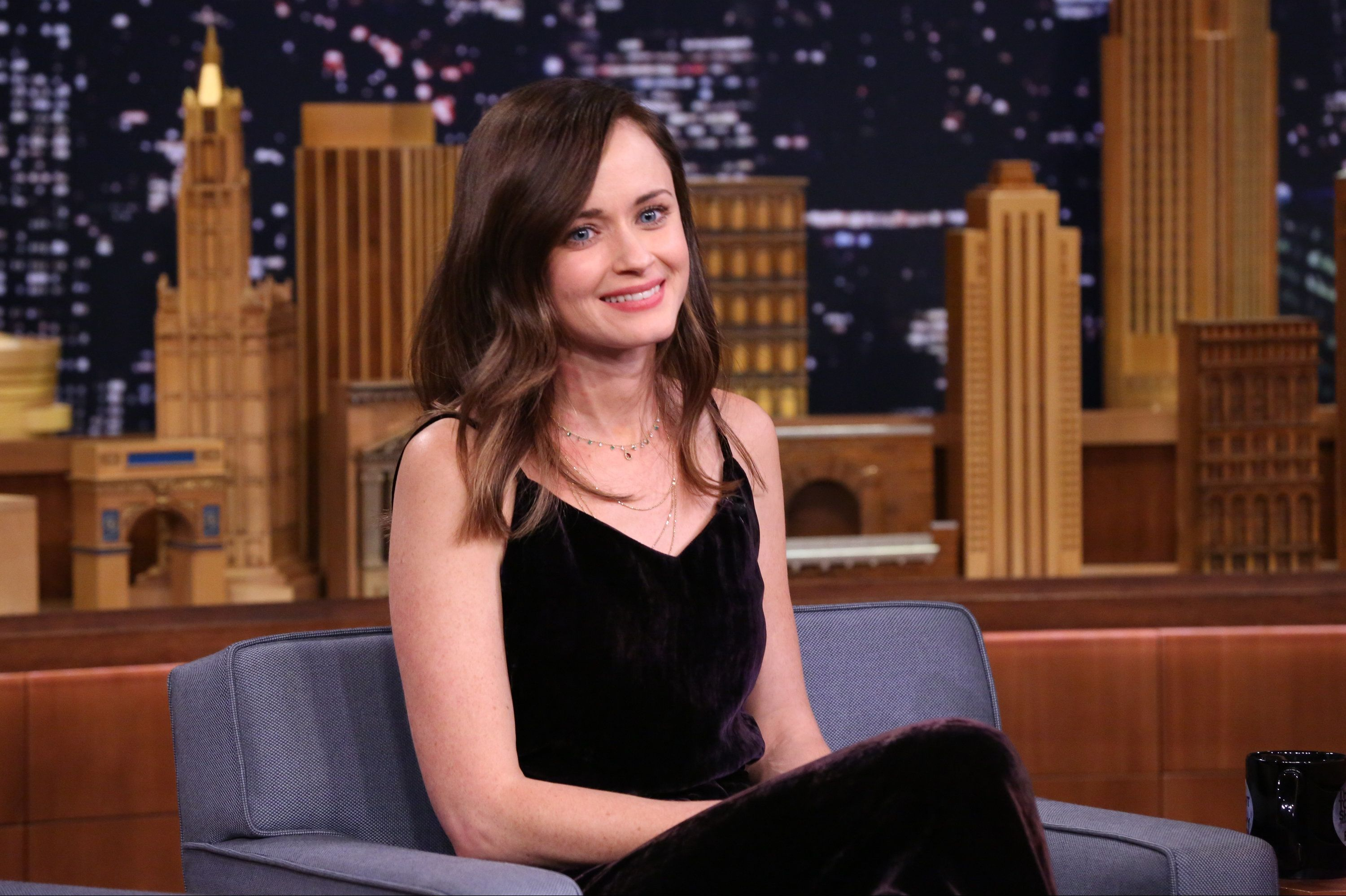 THE TONIGHT SHOW STARRING JIMMY FALLON -- Episode 0579 -- Pictured: Actress Alexis Bledel during an interview on November 28, 2016 -- (Photo by: Andrew Lipovsky/NBC/NBCU Photo Bank via Getty Images)