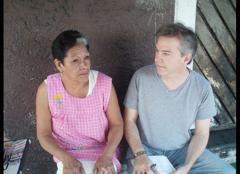 Enriqueta Romero and Andrew Chesnut at her Santa Muerte shrine in Tepito, July 2009
