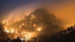 These Images From A Burning Town In Tennessee Are
