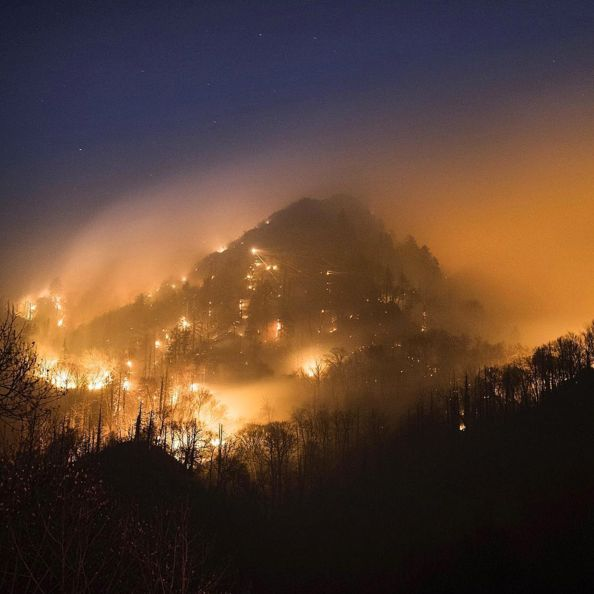 These Images From A Burning Gatlinburg, Tennessee, Are