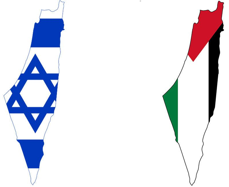 Full outline of Land of Israel / Historic Palestine, illustrating imagined, fictitious control over the whole territory.