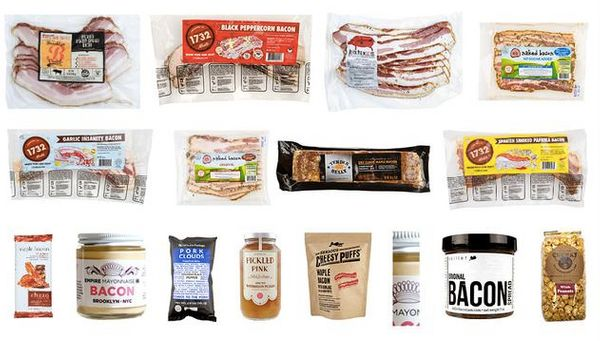 "Bacon lovers box, $37 per month, <a href=""https://www.mouth.com/products/bacon-every-month#variant=28112313554"" target=""_blan"