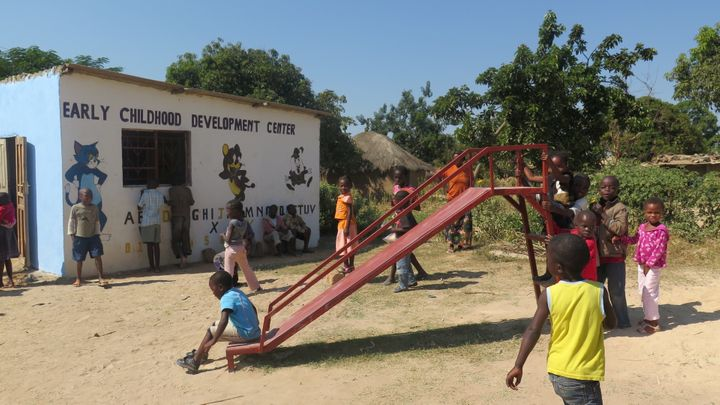 <p>Children playing at an ECD Center in Zambia</p>