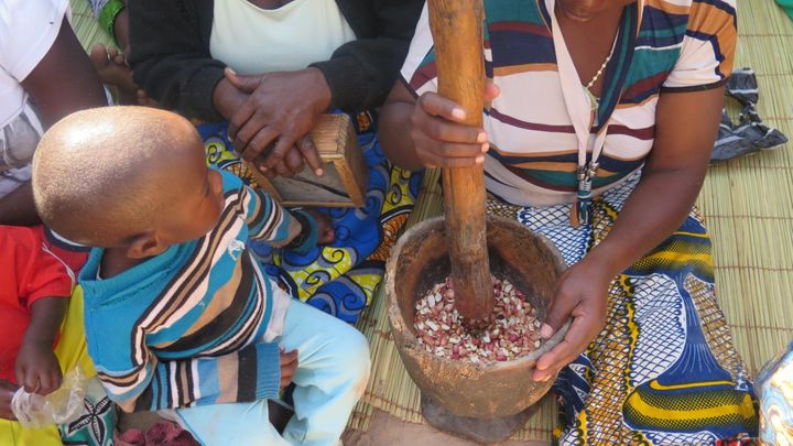 <p>Cooking class at and ECD Center in Zambia</p>