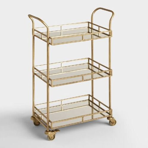 "$149.99, World Market. <a href=""http://www.worldmarket.com/product/gold+cole+3-tier+rolling+bar+cart.do?&amp;from=fn"" target="