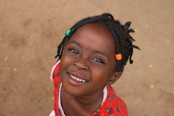 <p>Zambian girl who attends an Early Childhood Development Center</p>