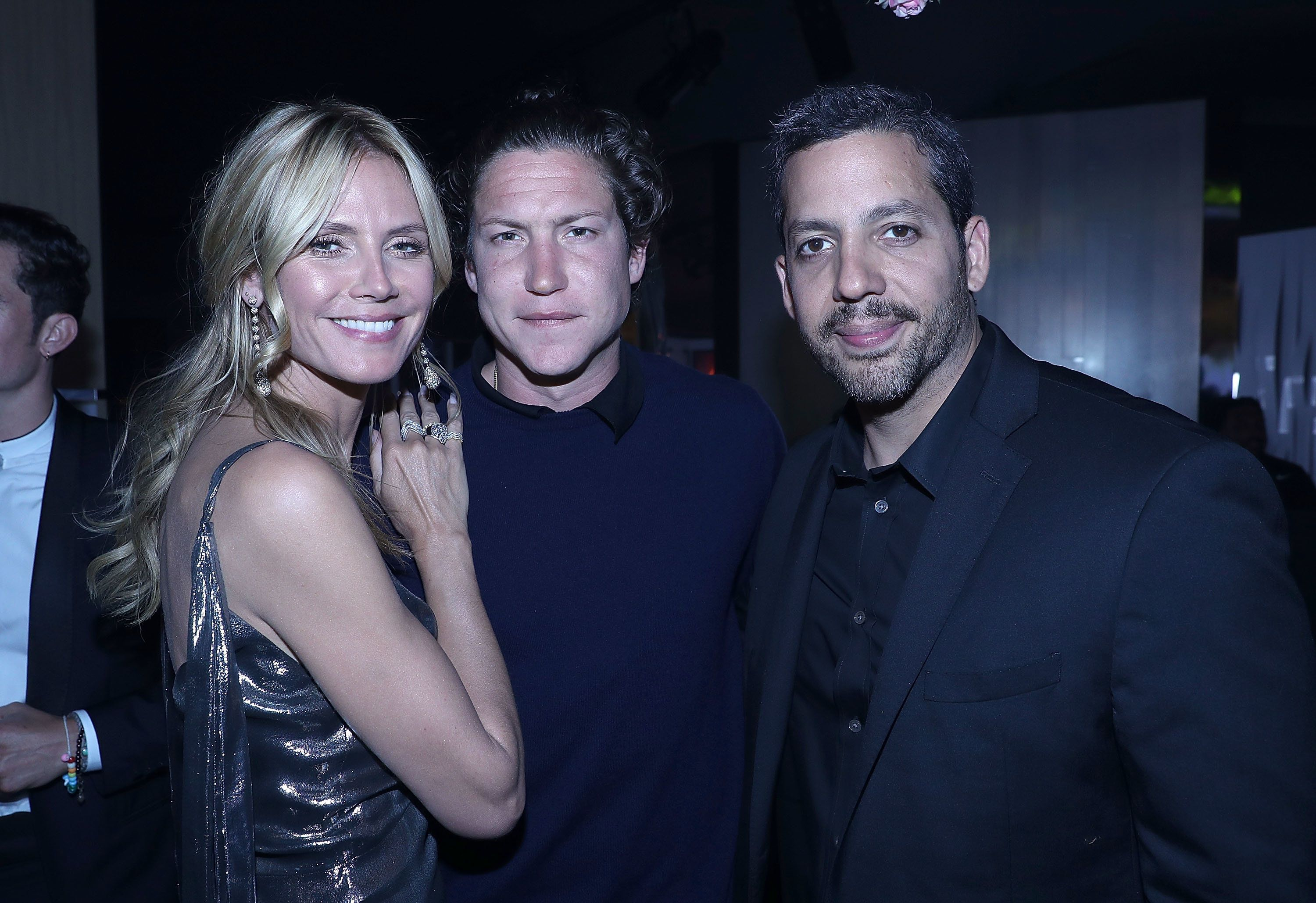CANNES, FRANCE - MAY 16:  Heidi Klum, Vito Schnabel and David Blaine attend The Harmonist Cocktail Party during The 69th Annual Cannes Film Festival at Plage du Grand Hyatt on May 16, 2016 in Cannes.  (Photo by Andreas Rentz/Getty Images for The Harmonist)