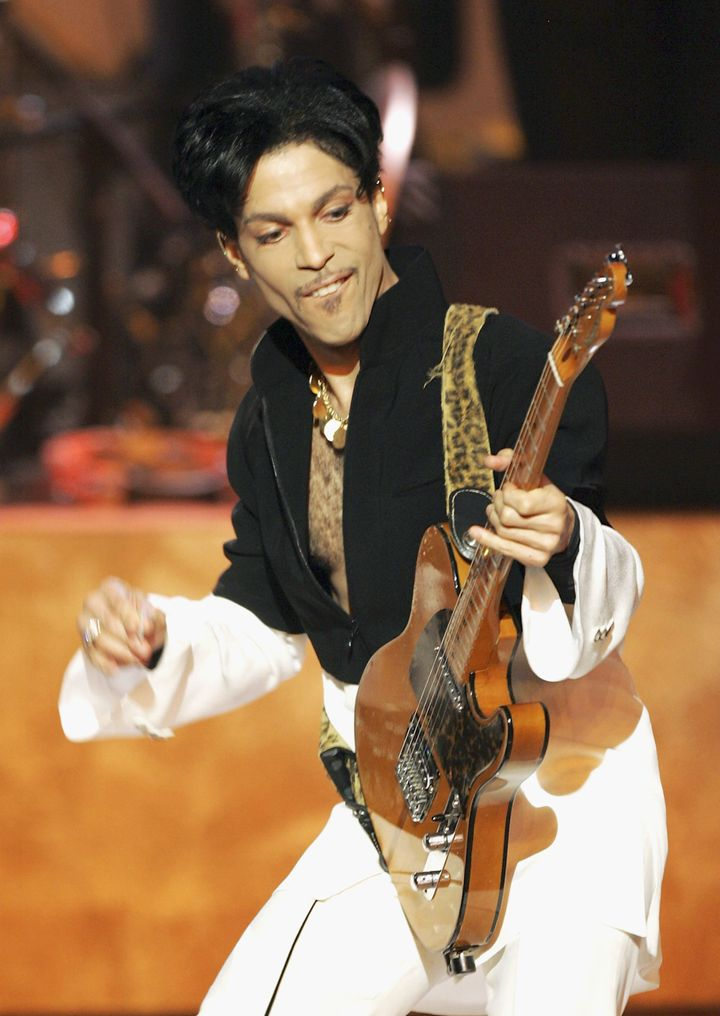 Prince performs at the 36th Annual NAACP Image Awards on March 19, 2005 in Los Angeles, CA.