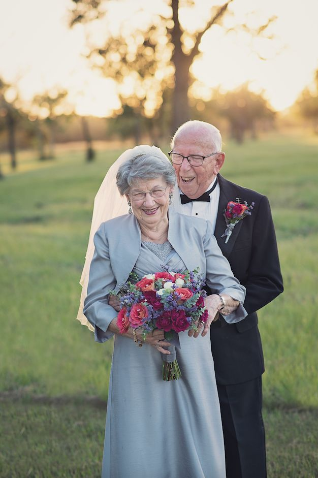 No one had a camera at the couple's 1946 wedding,so they don't have any photo documentation from that day.