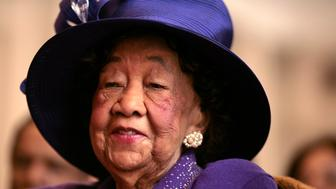 In this February 15, 2007 file photograph, civil rights leader Dorothy Height listens to speakers at an event on legislation calling for a statue of 19th century women's rights activist Sojourner Truth to be placed in the U.S. Capitol. On Tuesday, April 20, 2010, Height died at age 98.  (Photo by Chuck Kennedy/MCT/MCT via Getty Images)