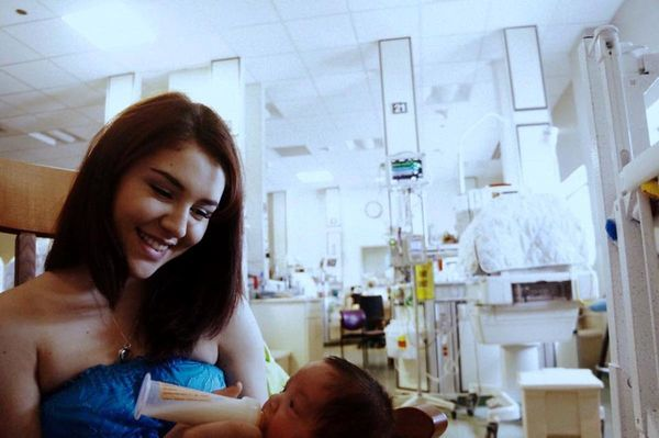 """""""My son was born at 24 weeks, weighing one pound, nine ounces, so prior to this moment, we faced many difficult and heart wre"""