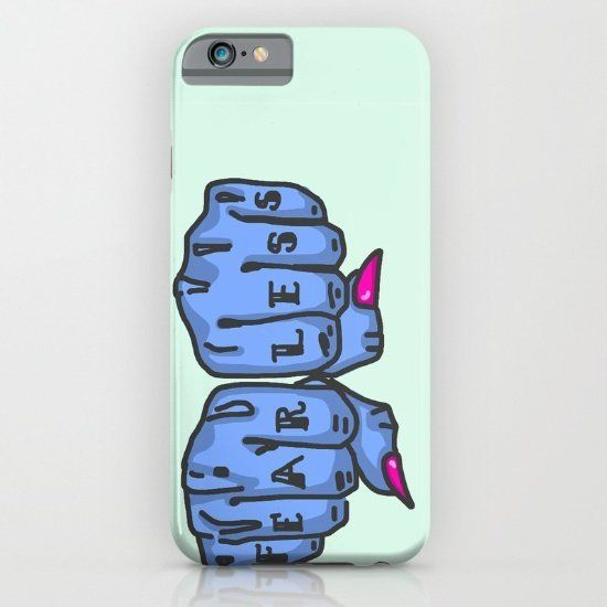 """$29.75, Society6. <a href=""""https://society6.com/product/fearless-sae_iphone-case#s6-4103103p20a9v430a52v377"""" target=""""_blank"""">"""