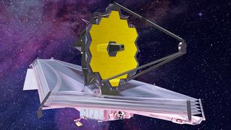 An artist conception of the fully deployed James Webb Space Telescope after it begins a decadelong mission in 2018 as Earths primary observatory in space