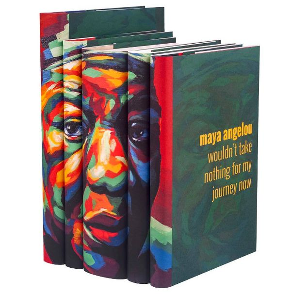 "<a href=""https://juniperbooks.com/store/maya-angelou-portrait-set/"" target=""_blank"">Maya Angelou Portrait Set</a>, $195 at <a"