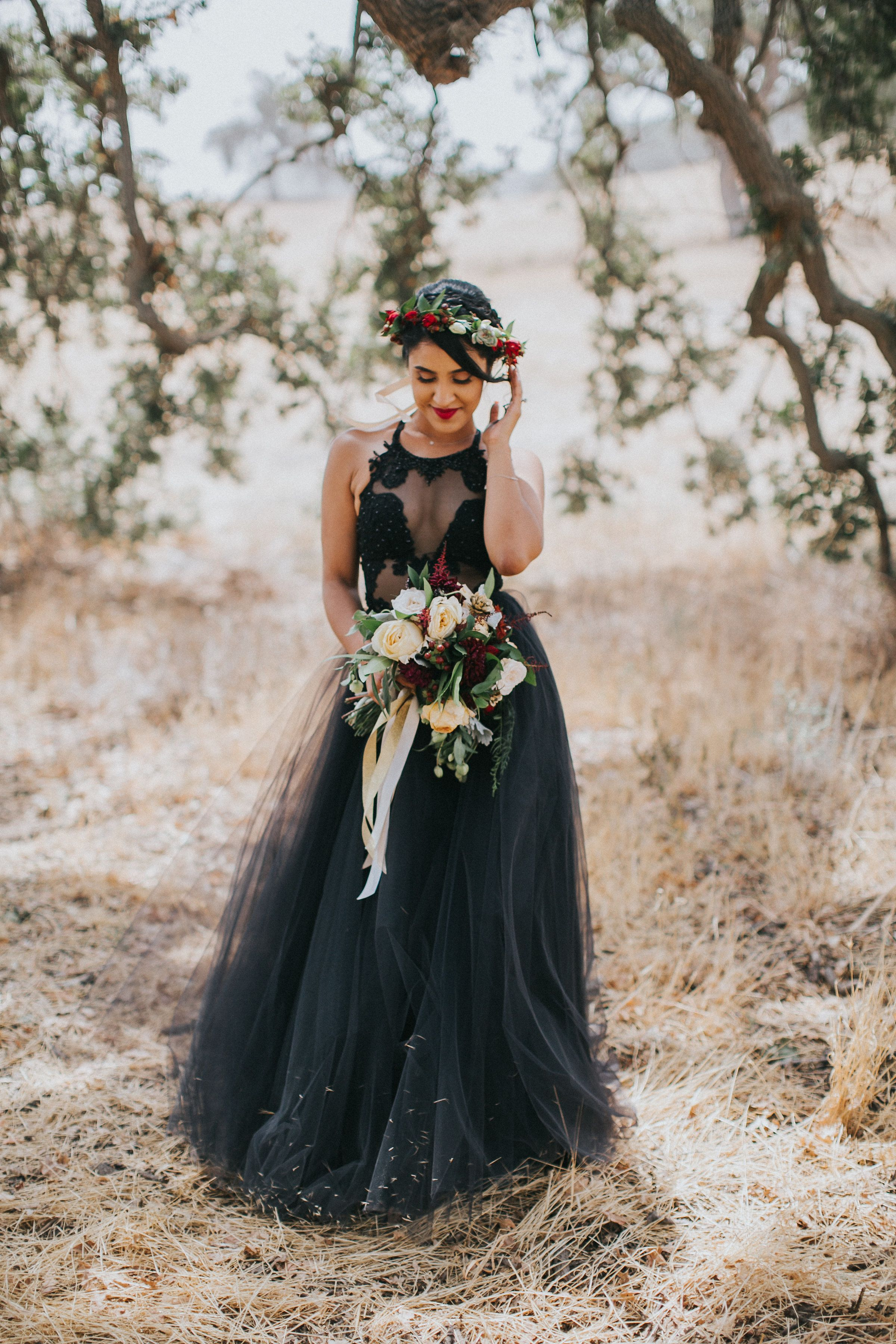 Wearing a black dress to your wedding