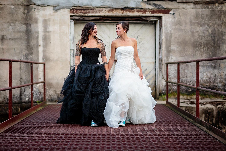 Black and Ivory Wedding Dresses