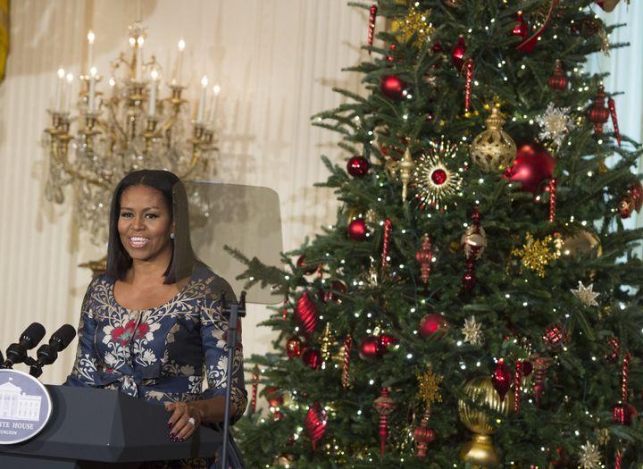 Αποτέλεσμα εικόνας για michelle obama christmas white house