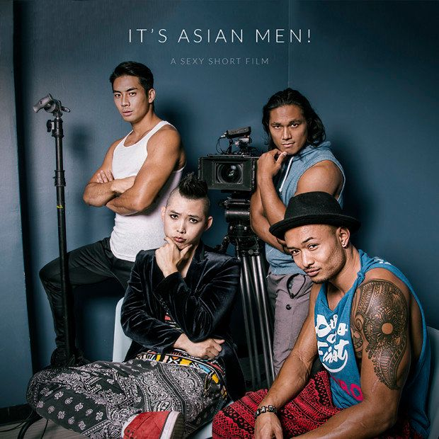 """Behold, the cast of""""It's Asian Men: A Sexy Short Film""""."""