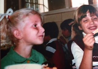 <p>Shana and me in kindergarten.</p>