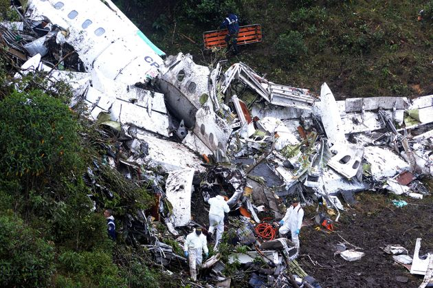 A view of the crash site in