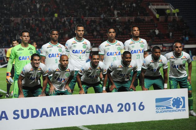 Members ofChapecoense pictured earlier this