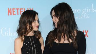 LOS ANGELES, CA - NOVEMBER 18:  Actresses Alexis Bledel and Lauren Graham attend the premiere of 'Gilmore Girls: A Year in the Life' at Regency Bruin Theatre on November 18, 2016 in Los Angeles, California.  (Photo by Jason LaVeris/FilmMagic)