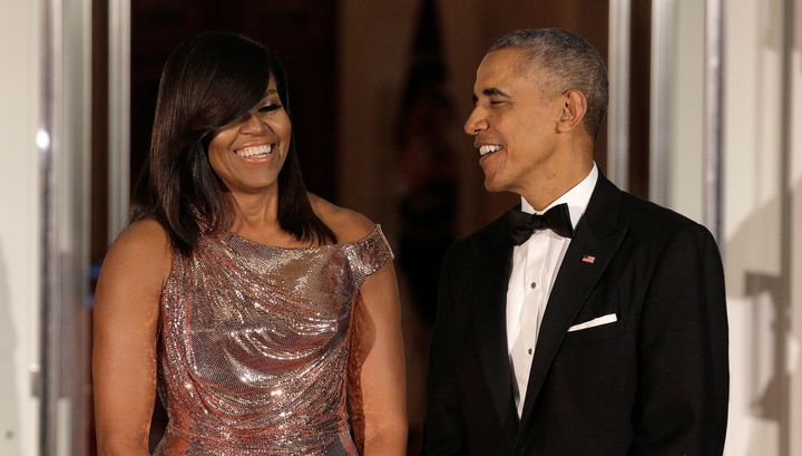 """President Barack Obama says Michelle Obama is""""too sensible"""" to run for office."""