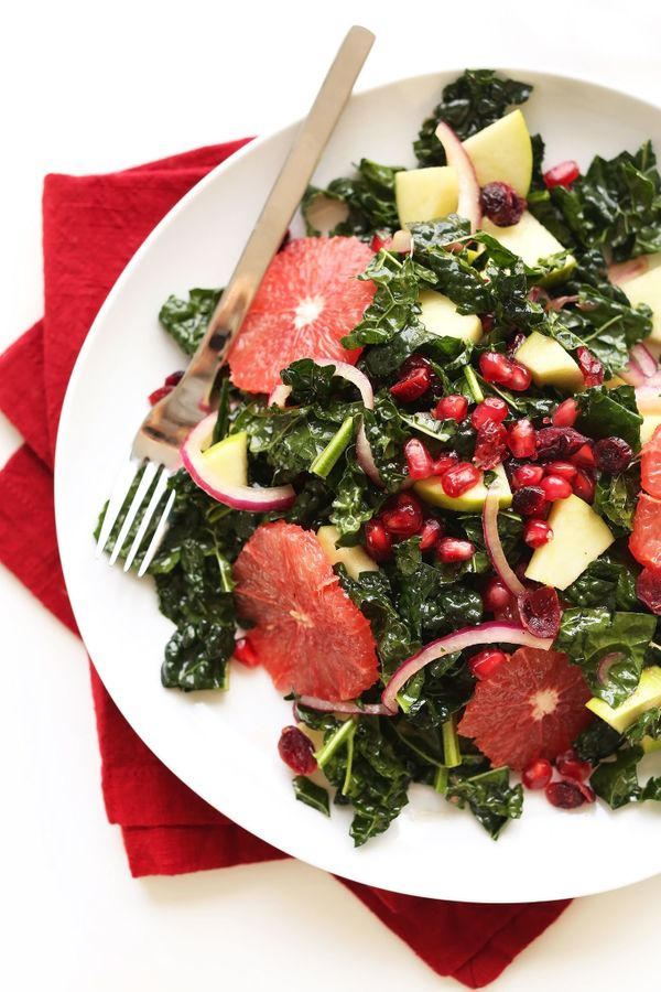 "<strong>Get the <a href=""http://minimalistbaker.com/kale-citrus-salad/"" target=""_blank"">Kale Citrus Salad recipe</a> fro"