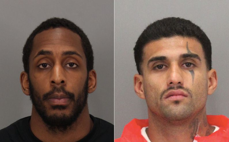 From left: Lanon Campbell, 26, and Rogelio Chavez, 33, escaped from the Santa Clara County jail Wednesday night. Ca