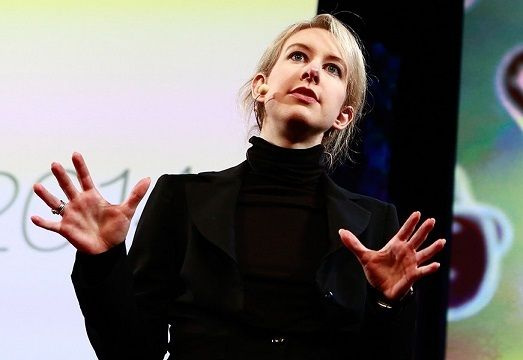 <p>Elizabeth Holmes speaking at a TedMed conference in 2014. Her talk has been removed from the TedMed website.</p>