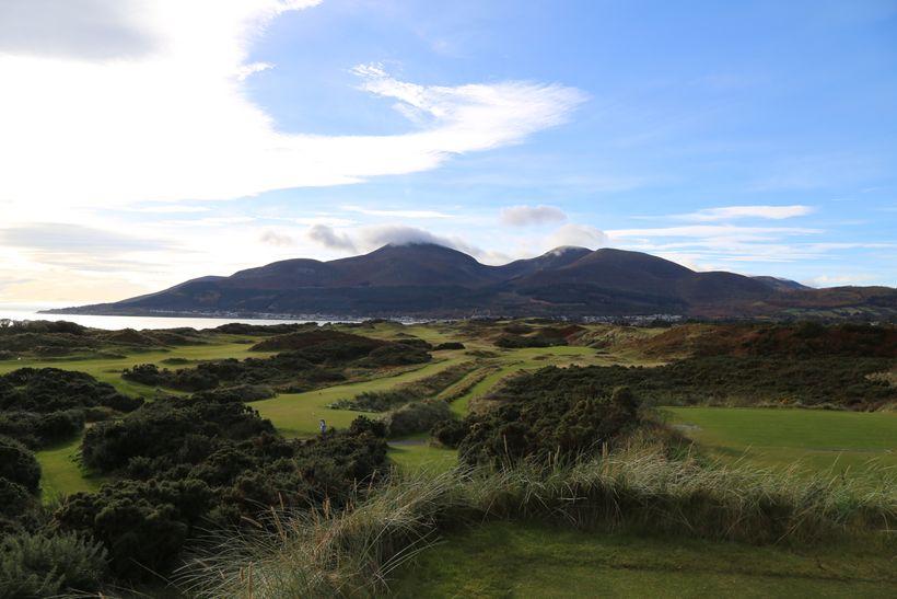 The par three fourth hole at Royal County Down