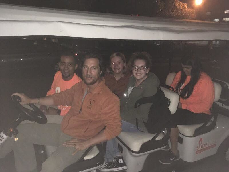 Matthew McConaughey ensures students get home safe.