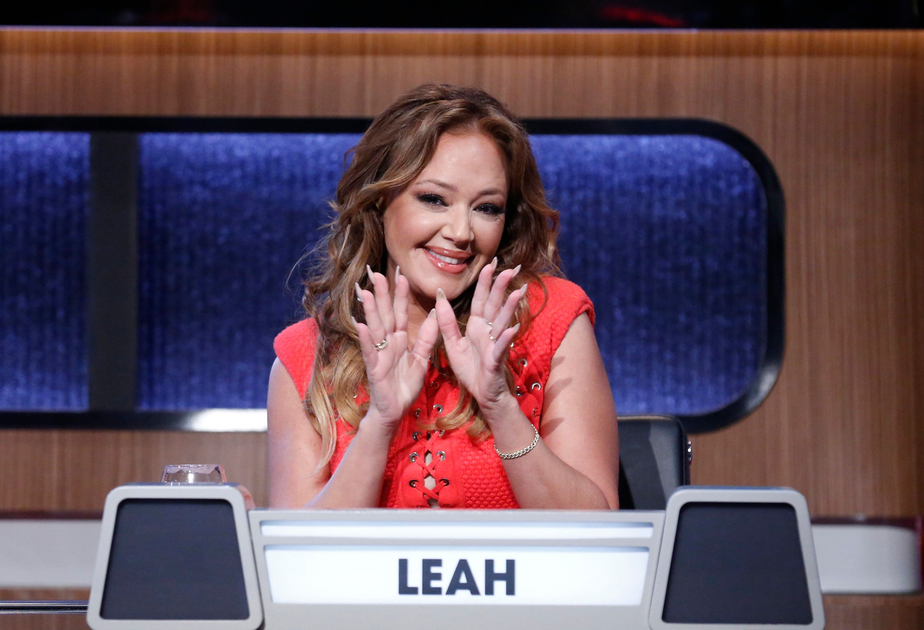 MATCH GAME  Airdate: July 17, 2016 - The iconic panel game show MATCH GAME, hosted by Golden Globe and Emmy Award-winning actor Alec Baldwin, returns to primetime airing on SUNDAYS (10-11pm, ET) on the ABC Television Network.   (Photo by Heidi Gutman/ABC via Getty Images)  LEAH REMINI
