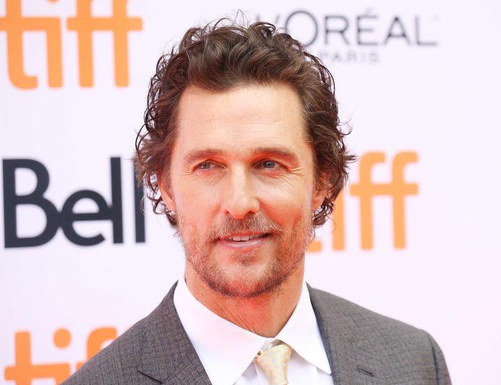 Matthew McConaughey arrives at the 2016 Toronto International Film Festival.